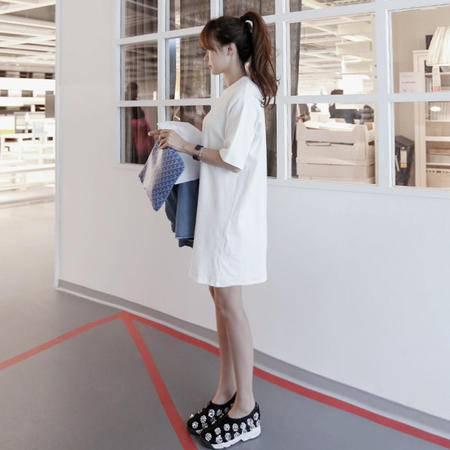 Mssefn2015新款韩版时尚宽松运动连衣裙8406-L001
