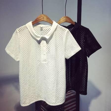 Mssefn2015夏新款镂空短袖T恤女W18