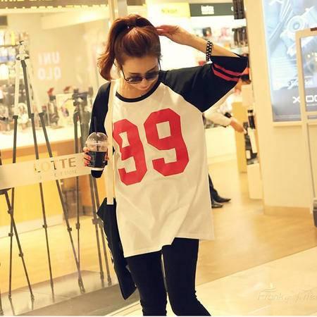 Mssefn2015新款全棉99数字印花T恤8418-1093(裤子另有售)