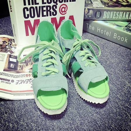 Mssefn2015新品糖果色磨砂牛皮凉鞋 系带真皮凉鞋1228-1
