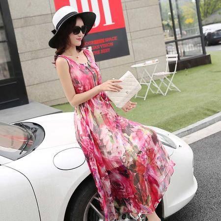 Mssefn2015新款女装韩版印花连衣裙QYXZX3920