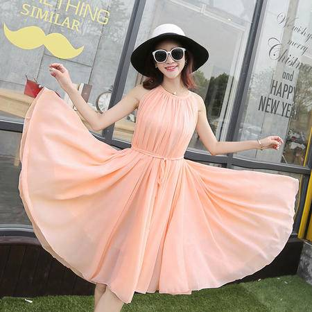 Mssefn2015韩版女装时尚潮流雪纺连衣裙QHXZX3912