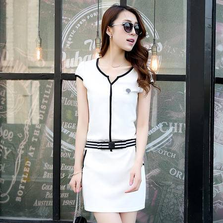 Mssefn2015夏装新款短袖修身连衣裙包臀裙显瘦休闲中裙950