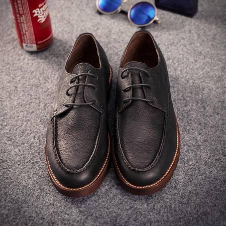 mssefn2015新款 英伦潮流透气头层牛皮马克线做旧休闲潮鞋 X440