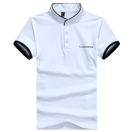 Mssefn2015夏装t恤 男韩版修身小立领时尚短袖T恤8828