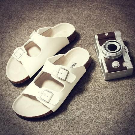 mssefn2015夏季男士拖鞋潮厚底软木拖鞋大码沙滩鞋凉拖tx01