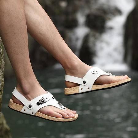 Mssefn2015夏季潮流男士凉鞋韩版夹趾休闲沙滩鞋软木凉拖鞋1311-886