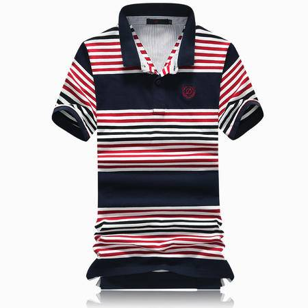 Mssefn2015新款条纹t恤 男时尚翻领休闲短袖polo衫09023