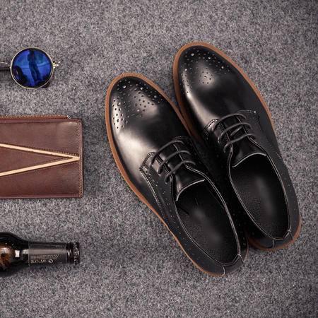 Mssefn2015新款哑光牛皮 英伦潮流透气系带雕花小皮鞋WS501