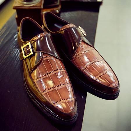mssefn2015最新英伦风欧美大牌潮流一脚蹬懒人商务休闲皮鞋电商B386