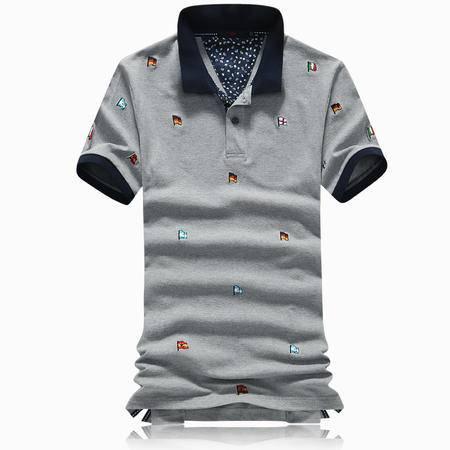 Mssefn2015新款男士T恤 短袖男休闲刺绣翻领POLO衫858-3310