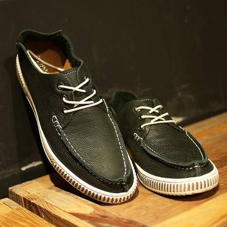 mssefn2015新品夏季韩版擦色做旧欧巴懒人一脚蹬帆船鞋驾车鞋418-BY805-F235