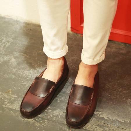 mssefn2015新品春夏韩版大牌擦色复古豆豆鞋男驾车鞋418-A337