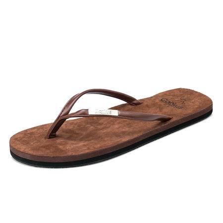 Mssefn2015夏季新款情侣款,舒适绒面个性百搭人字凉鞋男凉鞋G29