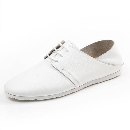 Mssefn2015英伦风夏季白色黑色休闲运动时尚单鞋真牛皮鞋男鞋开车耐磨鞋0263