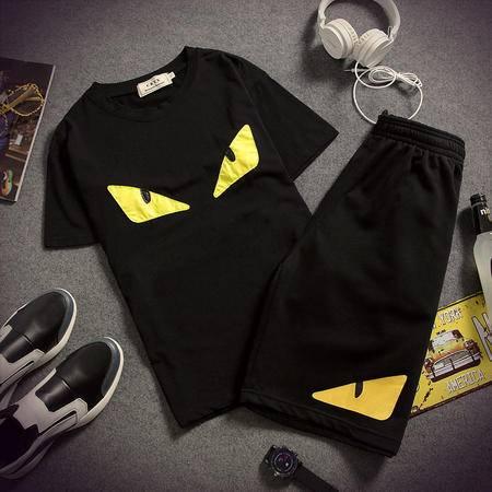 Mssefn2015奔跑吧兄弟小怪兽小恶魔t恤套装夏季短袖T恤短裤套装361-AK01