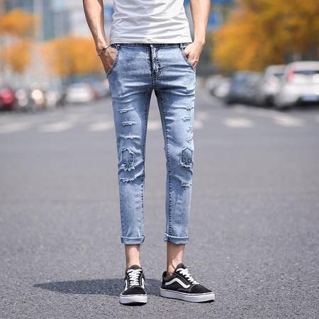 Mssefn2015新款牛仔裤 爆 九分裤街拍 走拍 夏装 日系哈伦裤1014-NK06