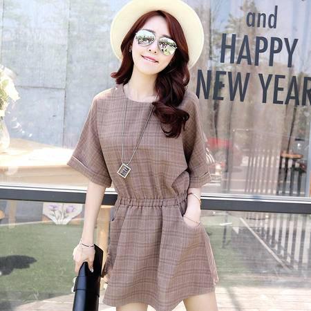 mssefn2015夏装新款韩版短袖连衣裙G337P100