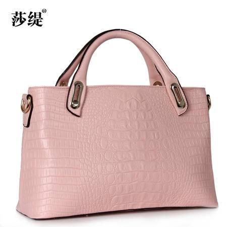 休闲奇葩2015鳄鱼纹牛皮女包手提包包7138