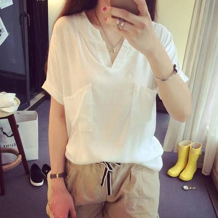 mssefn2015爆竹节棉好面料纯色短袖T恤A5858 F30