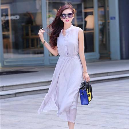 Mssefn2015夏装新款韩版修身显瘦时尚长款连衣裙GTHLYJ8802