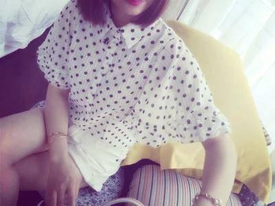 Mssefn2015女装夏季新品韩版暗格大摆短袖印花雪纺薄衬衣1220