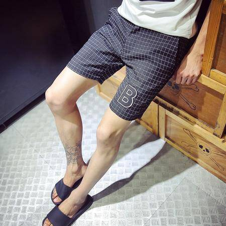 Mssefn2015夏季男士短裤休闲五分裤潮流格子休闲短裤五分裤DK02