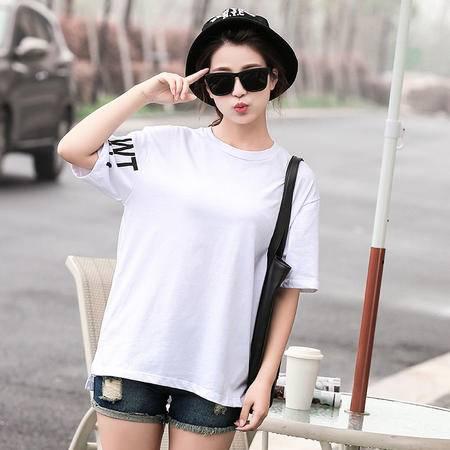 mssefn2015夏季新款时尚韩版女装女士短袖T恤衫679P60