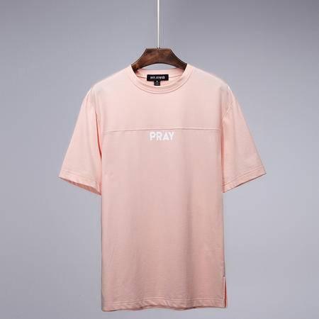 Mssefn2015韩版字母PRAY时尚独特剪裁情侣T恤C203-A73
