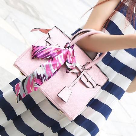 Mssefn2015新款手提包欧美时尚女包大包荔枝纹铂金包女单肩包