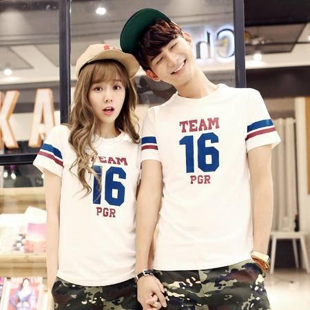 Mssefn2015情侣装 夏季短袖数字印花t恤H022