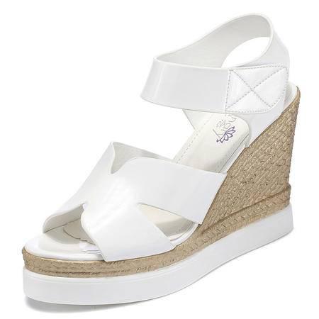休闲奇葩2015夏装欧美新款坡跟魔术贴高跟鞋DS12-1060