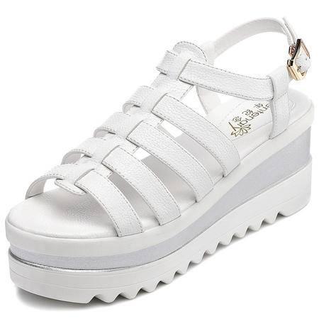 休闲奇葩2015欧美 新款 专柜正品 厚底 女士凉鞋DS12-1059