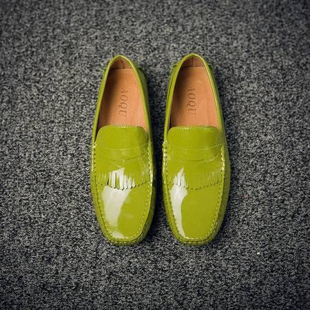 休闲奇芭 2015韩版流苏 低帮休闲皮鞋 手工缝  豆豆鞋 驾车鞋 开车鞋 白