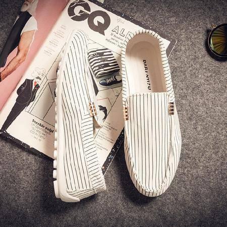 休闲奇芭 2015夏季韩版休闲鞋潮流行男鞋驾车鞋帆布豆豆鞋懒人鞋帆船鞋