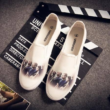 休闲奇芭 2015夏季男士休闲透气鞋运动跑步滑板男鞋韩版帆布潮板鞋