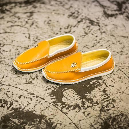 休闲奇芭 2015 春夏一脚蹬豆豆鞋男士韩版休闲鞋懒人鞋透气驾车皮鞋男鞋