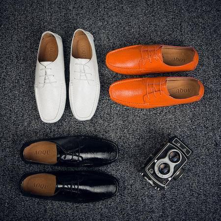 休闲奇芭 2015 休闲皮鞋 手工缝  豆豆鞋 驾车鞋 开车鞋