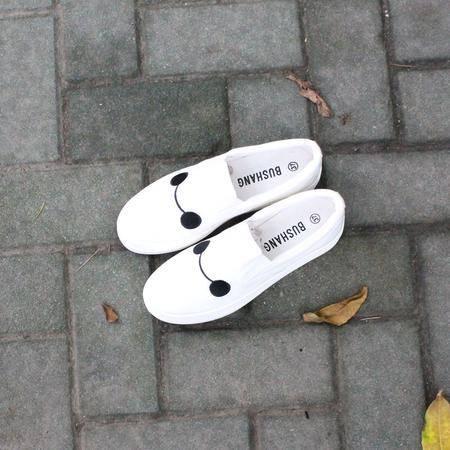 休闲奇芭 2015平底平跟单鞋女鞋子学生休闲鞋套脚一脚蹬懒人布鞋