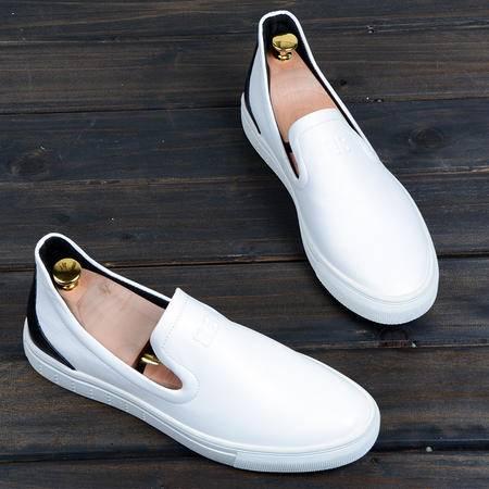 休闲奇芭 2015 休闲皮鞋英伦系带春夏季男鞋潮流单鞋子