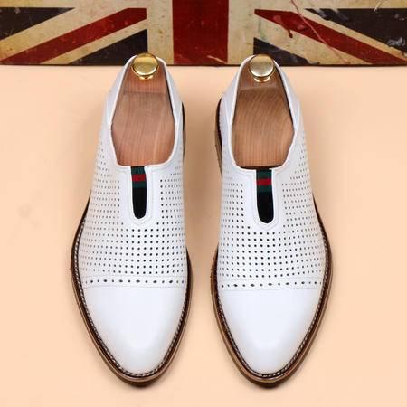 休闲奇芭 2015 新款KARDINALE风格 英伦套脚尖头皮鞋