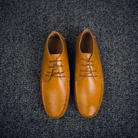 休闲奇芭 2015 矮帮休闲皮鞋 手工缝 3色 豆豆鞋 驾车鞋 开车鞋男