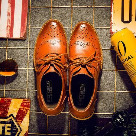 休闲奇芭 2015 韩国商务休闲皮鞋男时尚男士尖头皮鞋气皮鞋