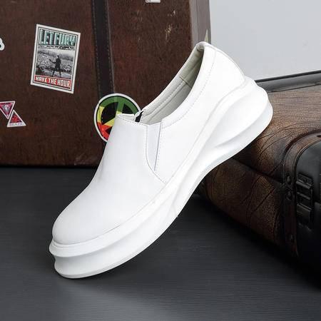 休闲奇芭 2015 欧美潮流松糕男鞋英伦时尚日常青年增高5.5cm男皮鞋