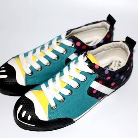 休闲奇芭 2015新款夏季平底学生运动鞋浅口尖头系带休鞋