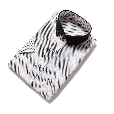 休闲奇芭 2015 跑量男装2015夏季新款男士短袖衬衫