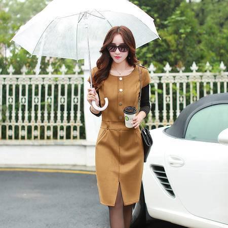 mssefn2015秋季新款韩版修身短袖连衣裙冬季打底裙A033P123