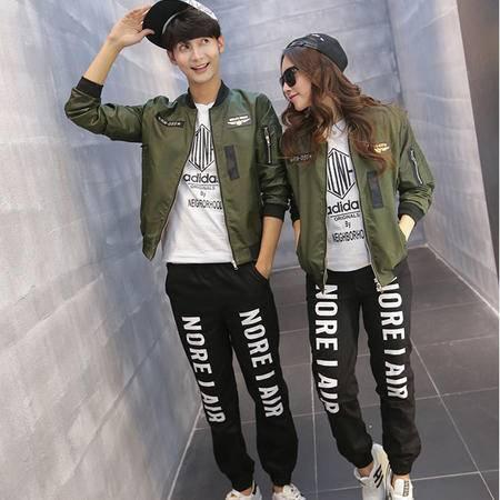 女 2015秋季棒球服男女原宿空军情侣装短外套上衣潮C213 A8801P63
