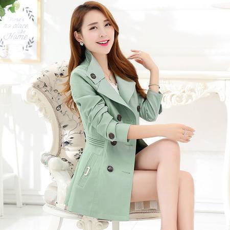 mssefn秋季时尚女装 女士修身中长款英伦风秋装风衣外套 YS1069P130
