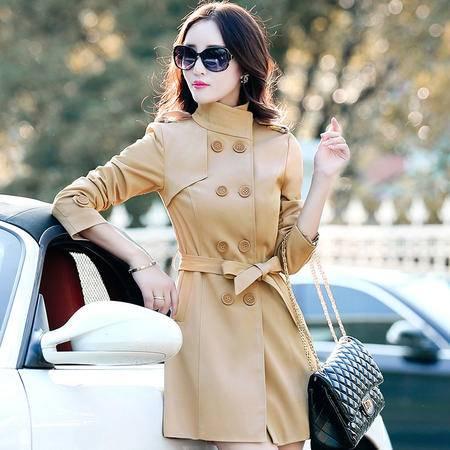 mssefn2015新款秋季韩版女装中长款女士秋装风衣外套YS1079配腰带